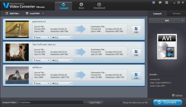 Download Wondershare Video Converter Free for Windows
