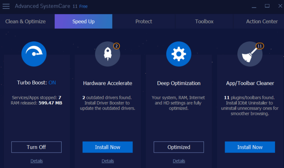Download Advanced SystemCare Free for WIndows